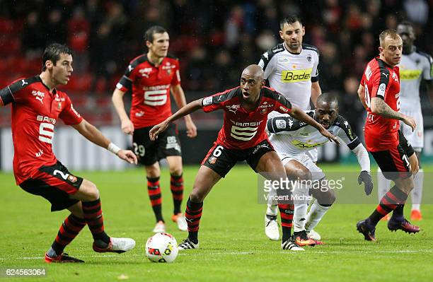 Gelson Fernandes of Rennes during the Ligue 1 match between Stade Rennais and Sco Angers at Stade de la Route de Lorient on November 19 2016 in...