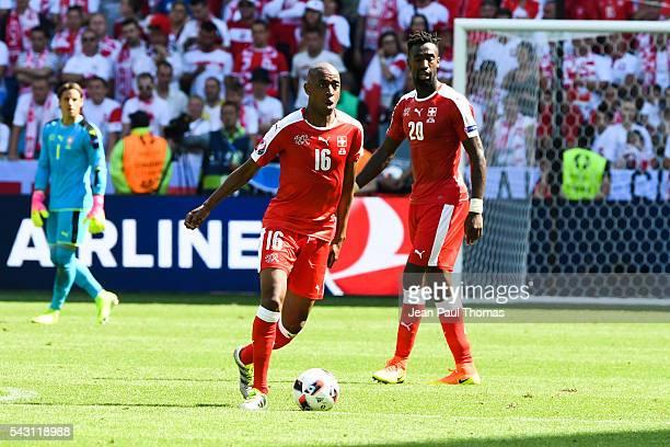 Gelson FERNANDES of Switzerland during the European Championship match Round of 16 between Switzerland and Poland at Stade GeoffroyGuichard on June...