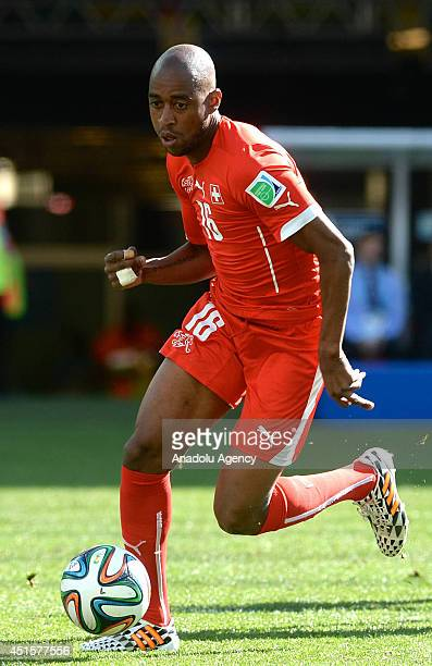 Gelson Fernandes of Switzerland in action during the 2014 FIFA World Cup Brazil Round of 16 match between Argentina and Switzerland at the Itaquerao...