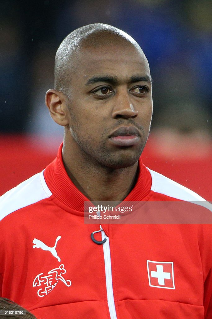 <a gi-track='captionPersonalityLinkClicked' href=/galleries/search?phrase=Gelson+Fernandes&family=editorial&specificpeople=2971817 ng-click='$event.stopPropagation()'>Gelson Fernandes</a> of Switzerland looks on prior to the international friendly match between Switzerland and Bosnia-Herzegovina at Stadium Letzigrund on March 29, 2016 in Zurich, Switzerland.