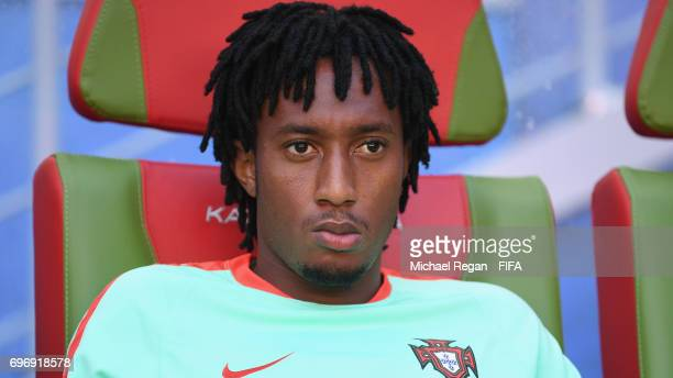 Gelson Martins looks on during the Portugal Training and Press Conference on June 17 2017 in Kazan Russia