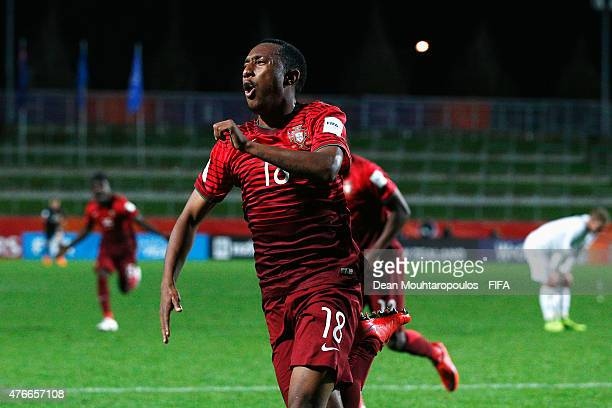 Gelson Martins of Portugal celebrates scoring his teams the second goal of the game during the FIFA U20 World Cup New Zealand 2015 Round of 16 match...