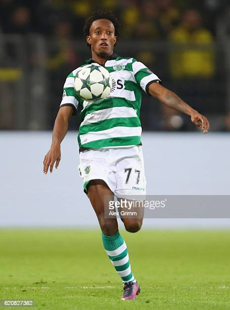 Gelson Martins of Sporting controles the ball during the UEFA Champions League Group F match between Borussia Dortmund and Sporting Clube de Portugal...
