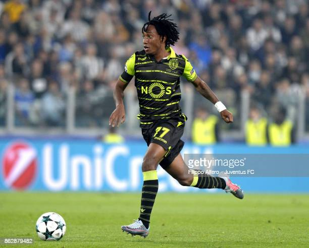 Gelson Martins of Sporting in action during the UEFA Champions League group D match between Juventus and Sporting CP at Allianz Stadium on October 18...