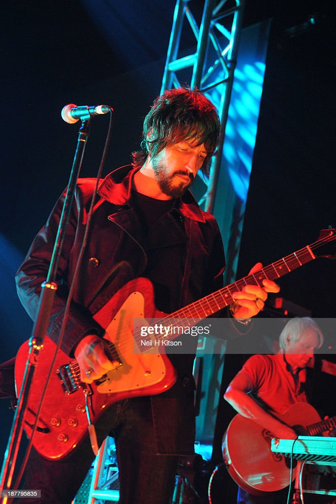 Gem Archer of Beady Eye performs on stage at O2 Academy on November 12, 2013 in Leeds, England.