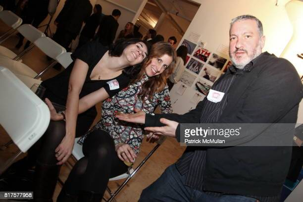 Gema Alava Kirstin Bowler Tunick and Spencer Tunick attend SLIDE LUCK Auction Fundraiser Hosted By Patrick McMullan DJ Spooky at Sandbox Studio on...