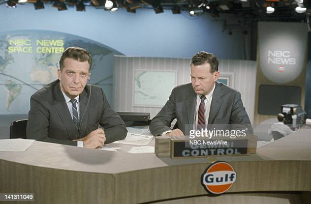 NBC NEWS Gemini VIII Launch Aired 03/16/66 Pictured Chet Huntley and David Brinkley report during the laungh of the Gemini VIII spacecraft Photo by...