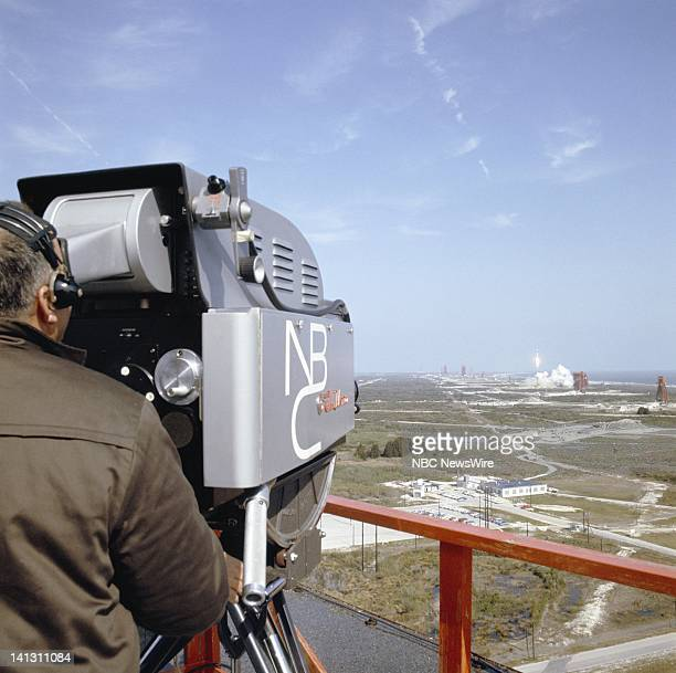 NBC NEWS Gemini VIII Launch Aired 03/16/66 Pictured NBC News camera during the launch of the Gemini VIII spacecraft from Cape Kennedy Florida on...