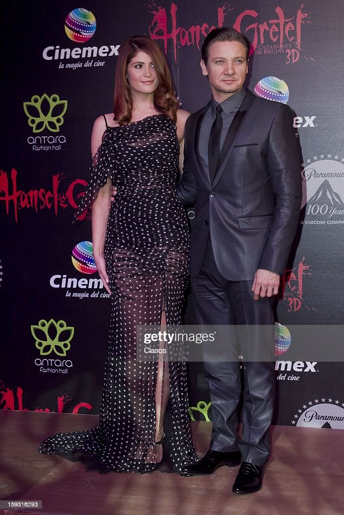 Gemma Artenton and Jeremy Renneren on the red carpet at the presentation of the movie Hansel and Gretel Witch Hunters on January 10, 2013 in Mexico City, Mexico.