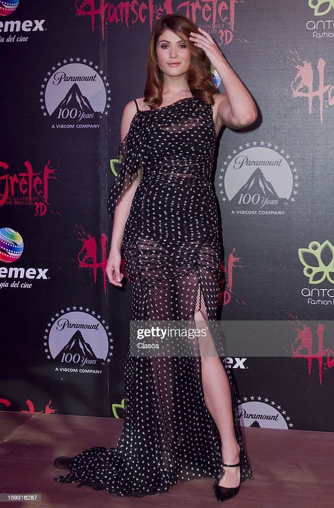 Gemma Artenton on the red carpet at the presentation of the movie Hansel and Gretel Witch Hunters on January 10, 2013 in Mexico City, Mexico.