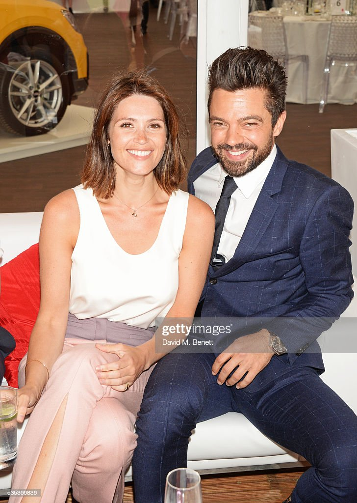 Gemma Arterton (L) and Dominic Cooper attend day two of the Audi Polo Challenge at Coworth Park on May 29, 2016 in London, England.