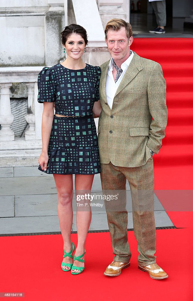 Gemma Arterton and Jason Flemyng attend a UK Premiere of 'Gemma Bovery' at Somerset House on August 6 2015 in London England