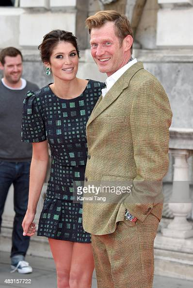 Gemma Arterton and Jason Flemyng attend the UK Premiere of 'Gemma Bovery' at Somerset House on August 6 2015 in London England