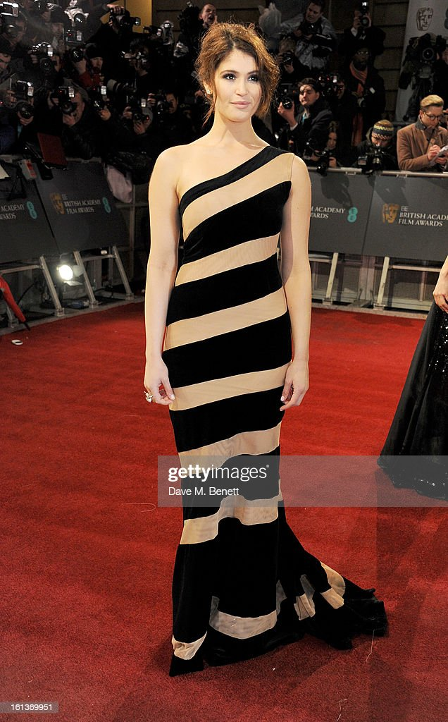 Gemma Arterton arrives at the EE British Academy Film Awards at the Royal Opera House on February 10, 2013 in London, England.