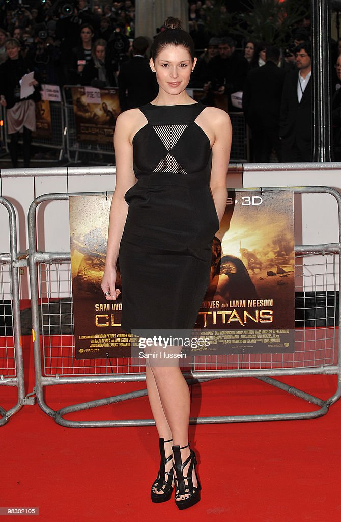 Gemma Arterton arrives at the World Film Premiere of 'Clash of the Titans' at the Empire Leicester Square on March 29, 2010 in London, England.