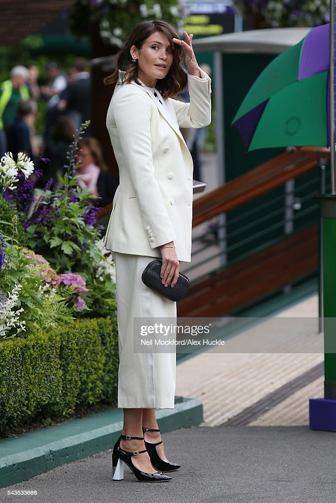 <a gi-track='captionPersonalityLinkClicked' href=/galleries/search?phrase=Gemma+Arterton&family=editorial&specificpeople=4296305 ng-click='$event.stopPropagation()'>Gemma Arterton</a> arriving for Day 4 of Wimbledon on June 29, 2016 in London, England.