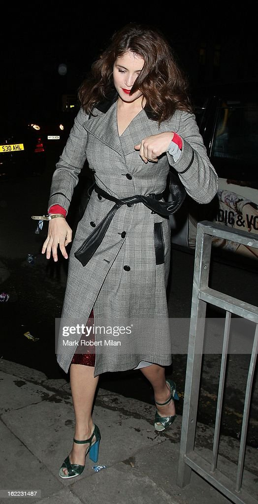 Gemma Arterton at The Kentish Town forum for Justin Timberlakes live show on February 20, 2013 in London, England.
