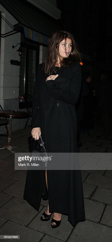 Gemma Arterton at the Little House club on February 8, 2013 in London, England.