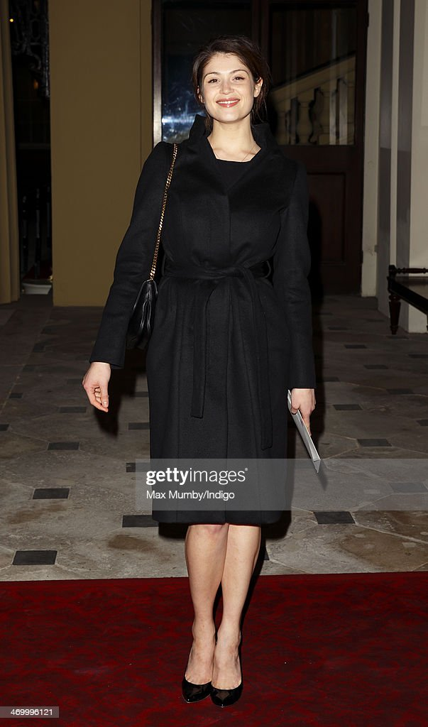 Gemma Arterton attends a Dramatic Arts reception hosted by Queen Elizabeth II at Buckingham Palace on February 17, 2014 in London, England.