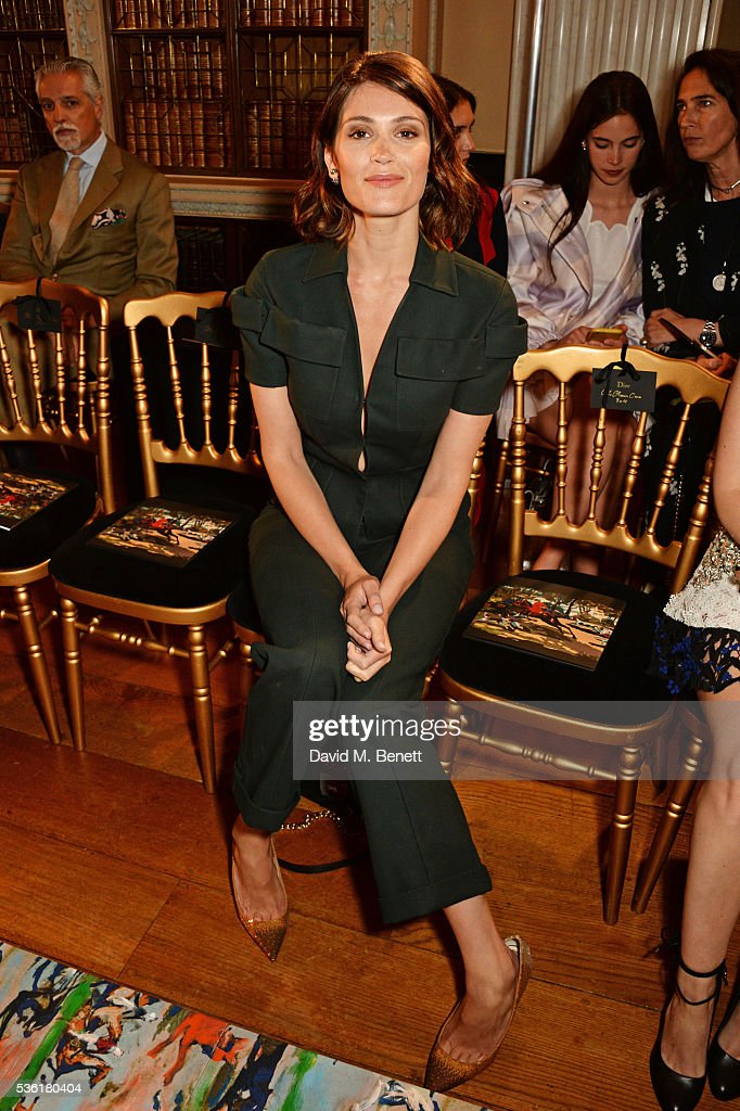 <a gi-track='captionPersonalityLinkClicked' href=/galleries/search?phrase=Gemma+Arterton&family=editorial&specificpeople=4296305 ng-click='$event.stopPropagation()'>Gemma Arterton</a> attends as Christian Dior showcases its spring summer 2017 cruise collection at Blenheim Palace on May 31, 2016 in Woodstock, England.