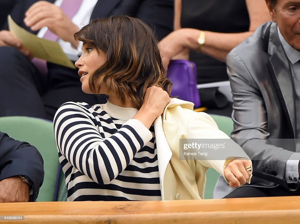 <a gi-track='captionPersonalityLinkClicked' href=/galleries/search?phrase=Gemma+Arterton&family=editorial&specificpeople=4296305 ng-click='$event.stopPropagation()'>Gemma Arterton</a> attends day three of the Wimbledon Tennis Championships at Wimbledon on June 29, 2016 in London, England.