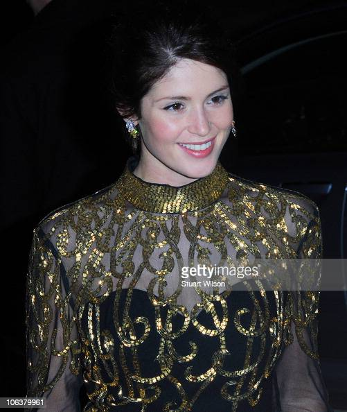 Gemma Arterton attends Grey Goose Character and Cocktails The Elton John AIDS Foundation Winter Ball at Maison de Mode on October 30 2010 in London...