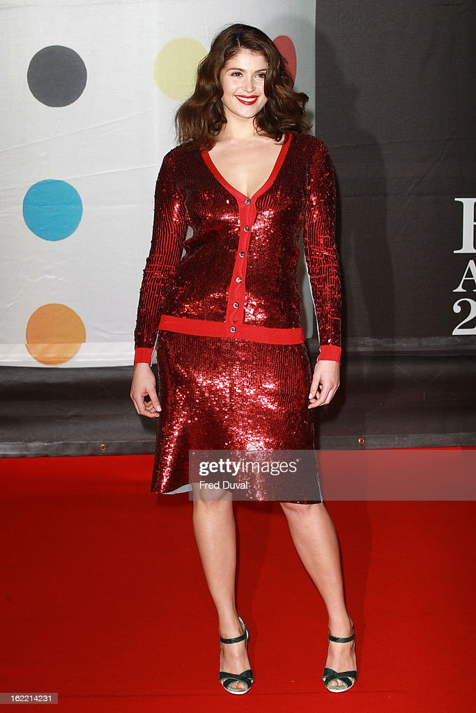 Gemma Arterton attends the Brit Awards at 02 Arena on February 20, 2013 in London, England.