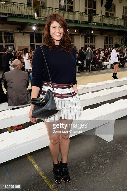 PARIS FRANCE SEPTEMBER 29 Gemma Arterton attends the Chloe show as part of the Paris Fashion Week Womenswear Spring/Summer 2014 on September 29 2013...