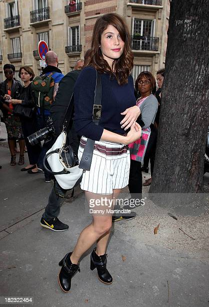 Gemma Arterton attends the Chloe show at Lycee Carnot during Paris Fashion Week Womenswear Spring/Summer 2014 on September 29 2013 in Paris France
