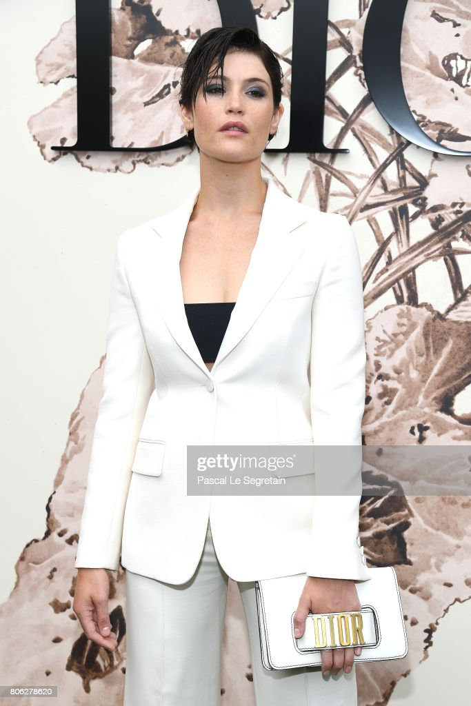 Gemma Arterton attends the Christian Dior Haute Couture Fall/Winter 2017-2018 show as part of Haute Couture Paris Fashion Week on July 3, 2017 in Paris, France.