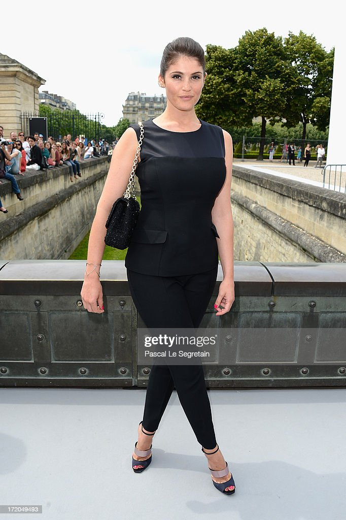 Gemma Arterton attends the Christian Dior show as part of Paris Fashion Week Haute-Couture Fall/Winter 2013-2014 at Hotel Des Invalides on July 1, 2013 in Paris, France.