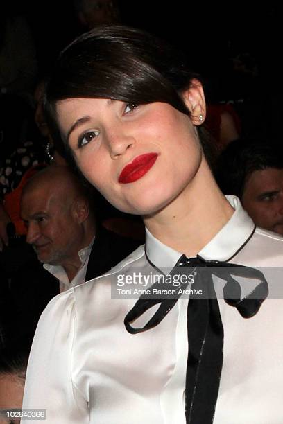 Gemma Arterton attends the Giorgio Armani Prive show as part of the Paris Haute Couture Fashion Week Fall/Winter 2011 Espace Vendome on July 6 2010...