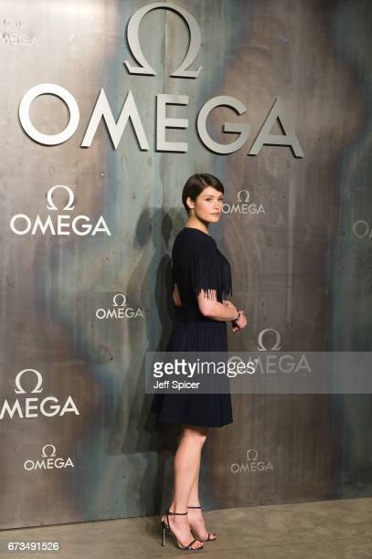 Gemma Arterton attends the Lost In Space event to celebrate the 60th anniversary of the OMEGA Speedmaster which has been worn by every piloted NASA...