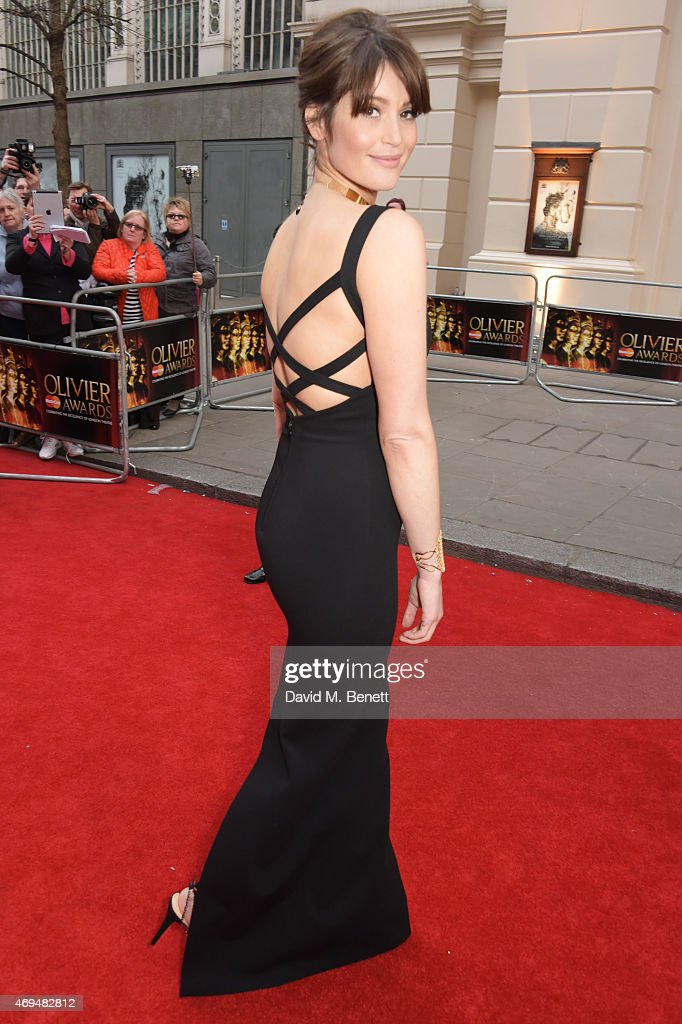 <a gi-track='captionPersonalityLinkClicked' href=/galleries/search?phrase=Gemma+Arterton&family=editorial&specificpeople=4296305 ng-click='$event.stopPropagation()'>Gemma Arterton</a> attends The Olivier Awards at The Royal Opera House on April 12, 2015 in London, England.