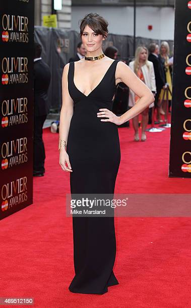 Gemma Arterton attends The Olivier Awards at The Royal Opera House on April 12 2015 in London England