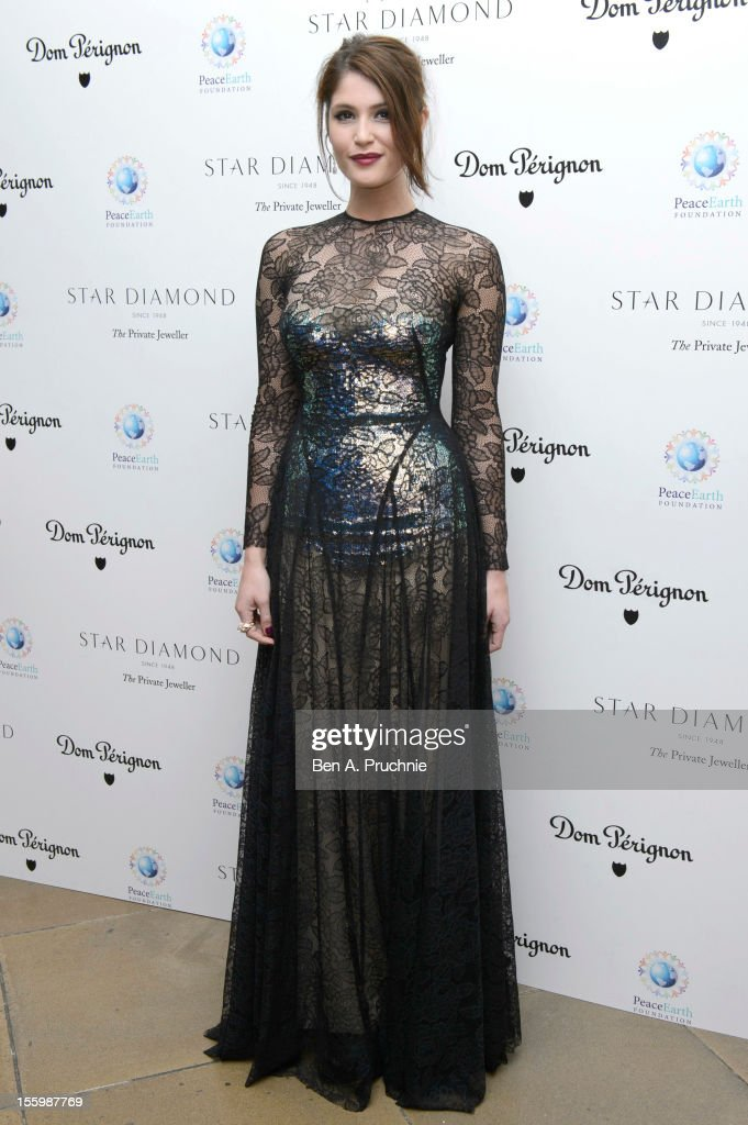 Gemma Arterton attends the PeaceEarth foundation fundraising gala at Banqueting House on November 10, 2012 in London, England.