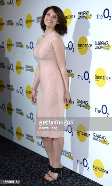 Gemma Arterton attends the premiere of 'The Voices' at Sundance London held at Cineworld 02 Arena on April 26 2014 in London England She is wearing a...