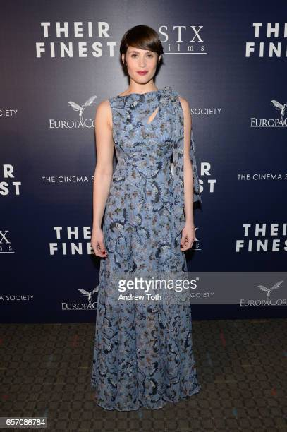 Gemma Arterton attends the premiere of 'Their Finest' hosted by STXfilms and EuropaCorp with The Cinema Society at SVA Theatre on March 23 2017 in...