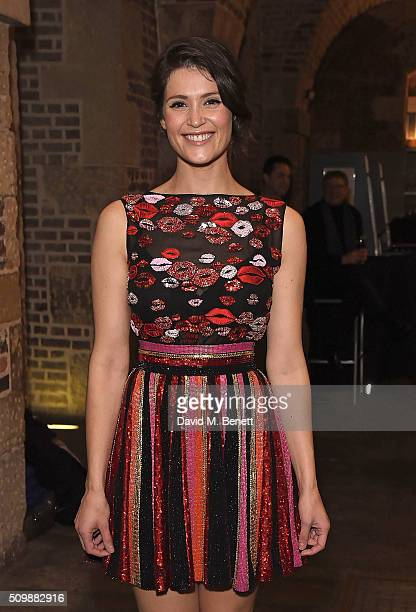 Gemma Arterton attends the press night after party of 'Nell Gwynn' at The Crypt St Martins on February 12 2016 in London England
