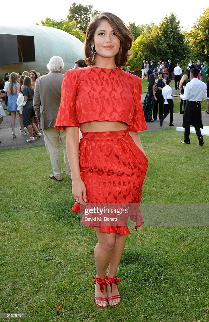 <a gi-track='captionPersonalityLinkClicked' href=/galleries/search?phrase=Gemma+Arterton&family=editorial&specificpeople=4296305 ng-click='$event.stopPropagation()'>Gemma Arterton</a> attends The Serpentine Gallery Summer Party co-hosted by Brioni at The Serpentine Gallery on July 1, 2014 in London, England.