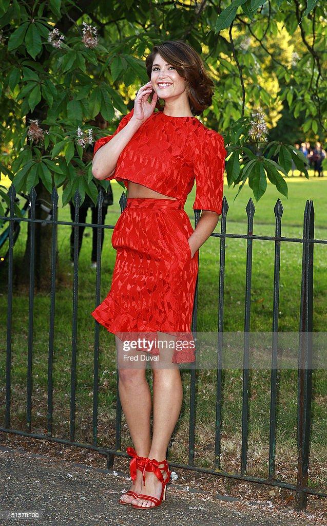 Gemma Arterton attends the The Serpentine Gallery summer party at The Serpentine Gallery on July 1, 2014 in London, England.