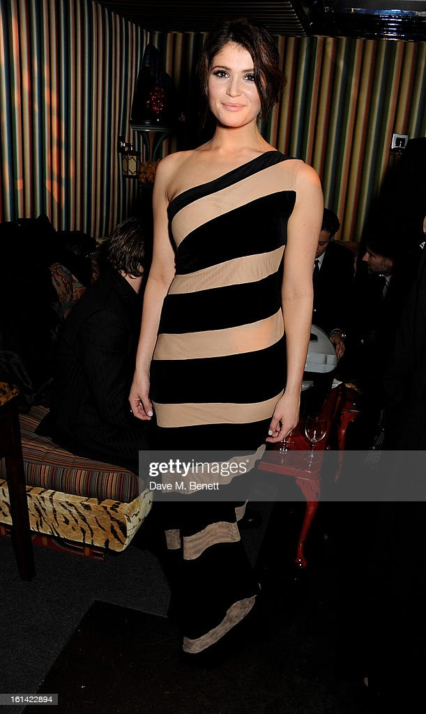 Gemma Arterton attends The Weinstein Company and Entertainment Film Distributors Post-BAFTA Party hosted by Chopard and Grey Goose at LouLou's on February 10, 2013 in London, England.
