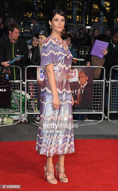 Gemma Arterton attends 'Their Finest' Mayor's Centrepiece Gala screening during the 60th BFI London Film Festival at Odeon Leicester Square on...