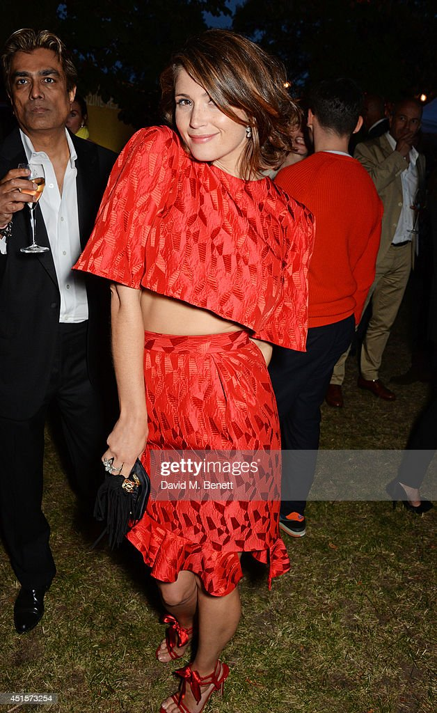 <a gi-track='captionPersonalityLinkClicked' href=/galleries/search?phrase=Gemma+Arterton&family=editorial&specificpeople=4296305 ng-click='$event.stopPropagation()'>Gemma Arterton</a> dances at The Serpentine Gallery Summer Party co-hosted by Brioni at The Serpentine Gallery on July 1, 2014 in London, England.
