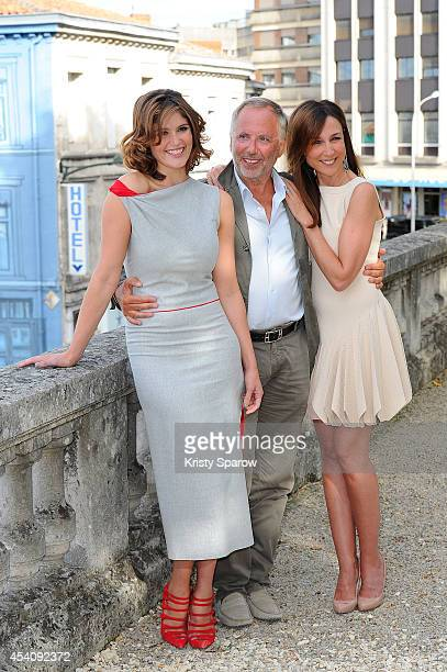 Gemma Arterton Fabrice Luchini and Elsa Zylberstein attend the 'Gemma Bovery' Photocall at Hotel Mercure during the 7th Angouleme FrenchSpeaking Film...