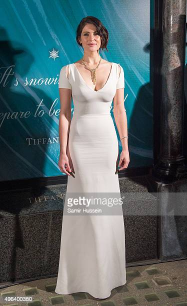 Gemma Arterton reveals the 2015 Tiffany Co Christmas Window at Tiffany Co on November 9 2015 in London England