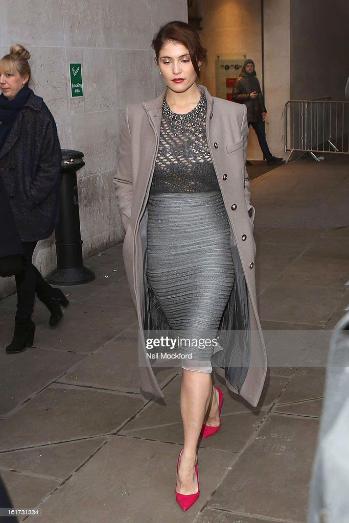 Gemma Arterton seen at BBC Radio One on February 15, 2013 in London, England.