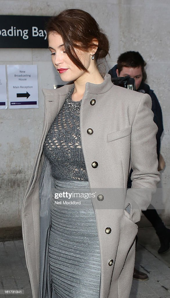 <a gi-track='captionPersonalityLinkClicked' href=/galleries/search?phrase=Gemma+Arterton&family=editorial&specificpeople=4296305 ng-click='$event.stopPropagation()'>Gemma Arterton</a> seen at BBC Radio One on February 15, 2013 in London, England.