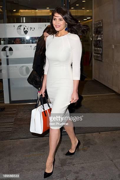 Gemma Arterton sighted departing BBC Radio Studios on May 28 2013 in London England