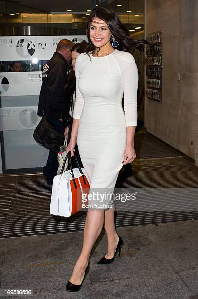 Gemma Arterton sighted departing BBC Radio Studios on May 28 2013 in London England